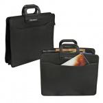 Портфель пластиковый Brauberg черный, 390х320х120мм, 4 отделения