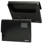 Портфель пластиковый Brauberg черный, 450х315х60мм