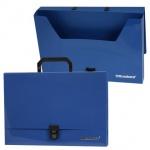Портфель пластиковый Brauberg синий, 330х245х64мм
