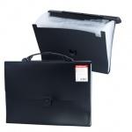 Портфель пластиковый Erich Krause черный, 328х235х25мм, 13 отделений, 2938