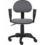 Кресло офисное Бюрократ CH-213AXN ткань, серая, темная, крестовина пластик