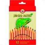 Набор цветных карандашей Koh-I-Noor Jumbo Natur, 12 цветов