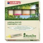 Текстовыделитель Edding ECO 24, 1-5мм, скошенный наконечник