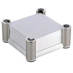 Блок для записей непроклеенный в подставке Lerche WhiteStar белый с хромированной подставкой, 10х10см, 74422