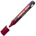 Маркер для досок Edding 360 красный, 1.5-3мм, круглый наконечник, заправляемый