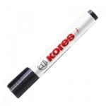 Маркер для досок Kores, 2-5мм, круглый наконечник, cap off, черный