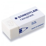 Ластик Staedtler Rasoplast B30, 43x19x13мм, белый