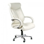 Кресло руководителя Chairman 420, крестовина хром, белое