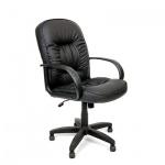 Кресло руководителя Chairman 416, крестовина пластик, низкая спинка, черное матовое