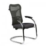 Кресло посетителя Chairman 426 ткань, черная, TW, на полозьях