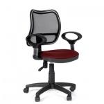 Кресло офисное Chairman 450 ткань, красная, TW, крестовина пластик