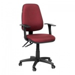 Кресло офисное Chairman 661 ткань, бордовая, крестовина хром