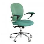 Кресло офисное Chairman 686 ткань, крестовина хром, зеленое