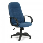 Кресло руководителя Chairman 727, крестовина пластик, синее