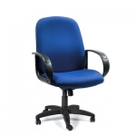 Кресло руководителя Chairman 279-M ткань, крестовина пластик, низкая спинка, голубой