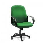 Кресло руководителя Chairman 279-M ткань, крестовина пластик, низкая спинка, зеленый