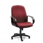 Кресло руководителя Chairman 279-M ткань, крестовина пластик, низкая спинка, красный