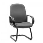 Кресло посетителя Chairman 279 V ткань, JP, на полозьях, серый