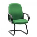 Кресло посетителя Chairman 279 V ткань, JP, на полозьях, зеленый