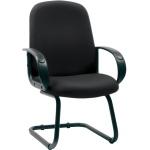 Кресло посетителя Chairman 279 V иск. кожа, черная, на полозьях