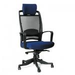 Кресло руководителя Chairman 283 ткань, синяя, крестовина пластик