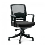 Кресло офисное Chairman 284 ткань, черная, крестовина пластик