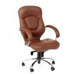 Кресло руководителя Chairman 430 нат. кожа, коричневая, крестовина хром