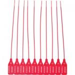 Пломба пластиковая номерная красная, 255мм, 50шт