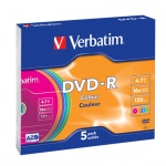 ���� DVD-R Verbatim Jewel, 4,7Gb, 16x, 1��