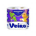 Бумажные полотенца Veiro Classic белые, 2 слоя, 2 рулона, 2 рул