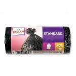 Мешки для мусора Paclan Standard 20л, черные, 7.3мкм, 40шт/уп