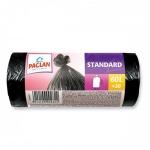 Мешки для мусора Paclan Standard 60л, черные, 7.4мкм, 20шт/уп