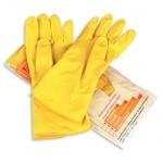 Перчатки латексные Paclan Professional р.L, желтые