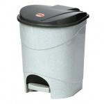 Контейнер для мусора с педалью М-Пластика 19л, серый, М 2892