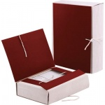 Архивная папка на завязках красная, А4, 120мм