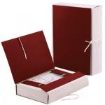 Архивная папка на завязках красная, А4, 80мм