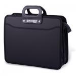 Портфель пластиковый Brauberg Премьер черный, 390х315х120мм, 3 отделения