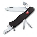 Нож для спецслужб 111мм Victorinox Centurion 0.8453.3, 11 функций, 2 уровня, черный, с фиксатором