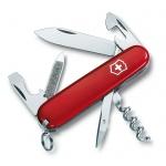 Нож перочинный 84мм Victorinox Sportsman 0.3803, 13 функций, 2 уровня, красный