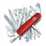 Нож офицерский 91мм Victorinox Swiss Champ 1.6795, 33 функции, 8 уровней, красный