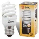 Лампа энергосберегающая Эра Т2, Е27, мягкий желтый, 20(120)Вт