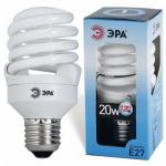 Лампа энергосберегающая Эра Т2 20(120)Вт, Е27, яркий белый