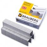 Скобы для степлера Brauberg, оцинкованные, 1000 шт