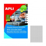 Этикетки белые удаляемые Apli 10197 17.8х10мм, 6750шт