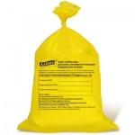 Мешки для мусора Лайма Класс Б медицинские 80л, желтые, 18мкм, 50шт/уп