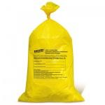Мешки для мусора Лайма Класс Б медицинские 100л, желтые, 22мкм, 50шт/уп