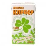 Молоко Клевер 1%, 1л, ультрапастеризованное