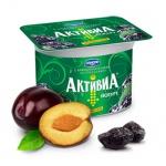 Йогурт Активиа творожная чернослив, 2.9%, 130г