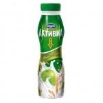 Йогурт питьевой Активиа 2.2% злаки-яблоко, 290г