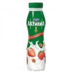 Йогурт питьевой Активиа 2% клубника-земляника, 290г